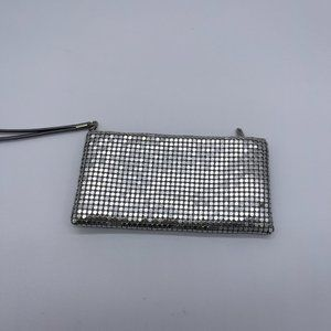 Charming Charlie Mesh Wristlet Silver Zipper and S